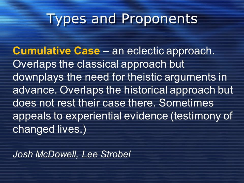 Types and Proponents