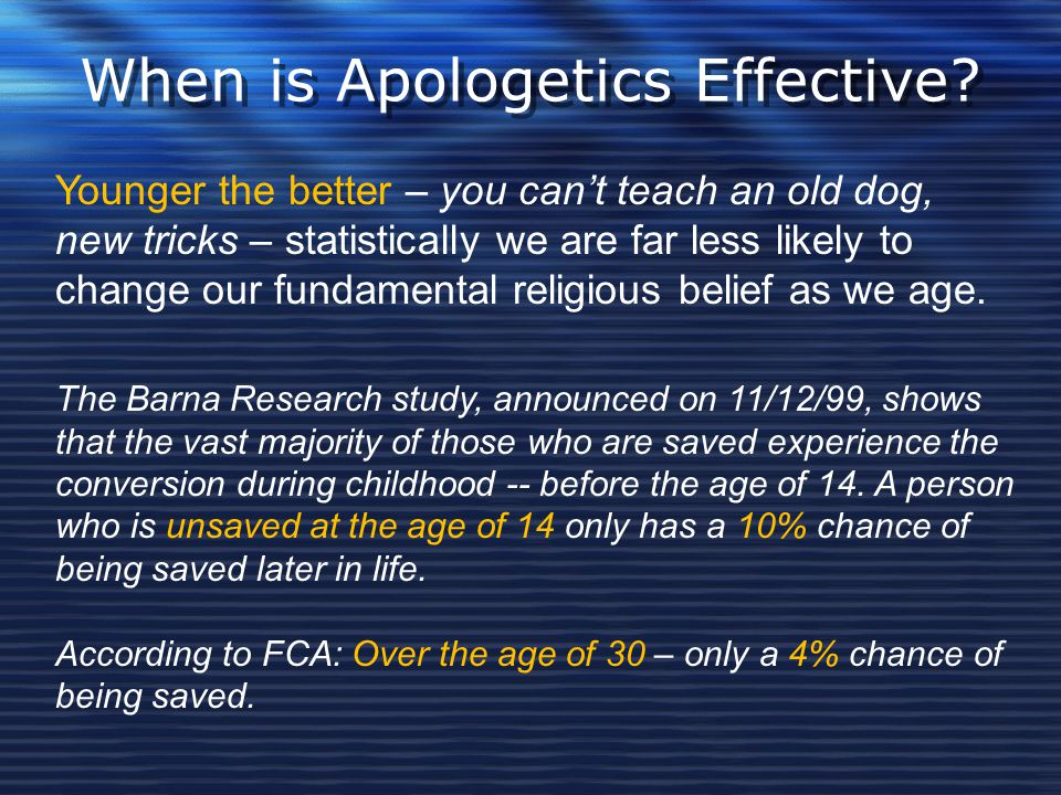 When is Apologetics Effective