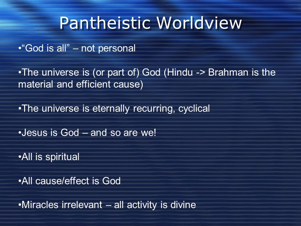 Pantheistic Worldview