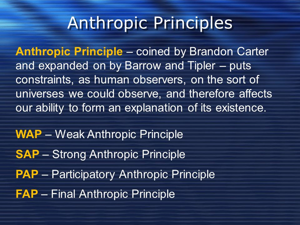Anthropic Principles