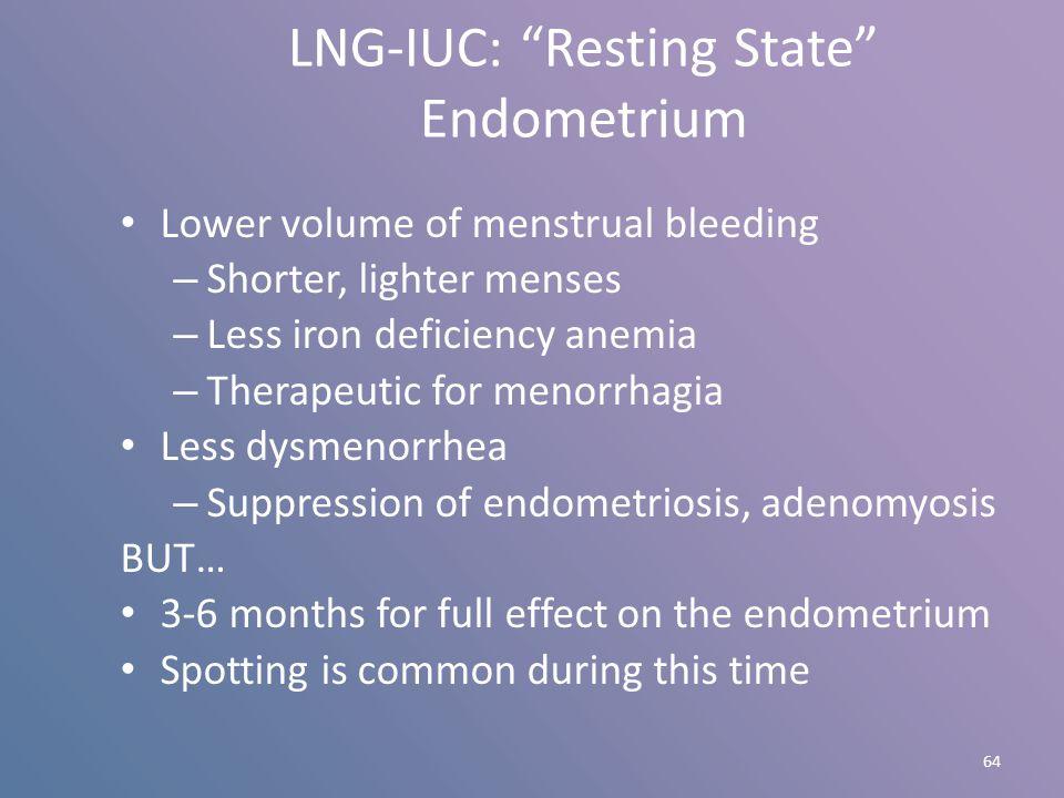 LNG-IUC: Resting State Endometrium