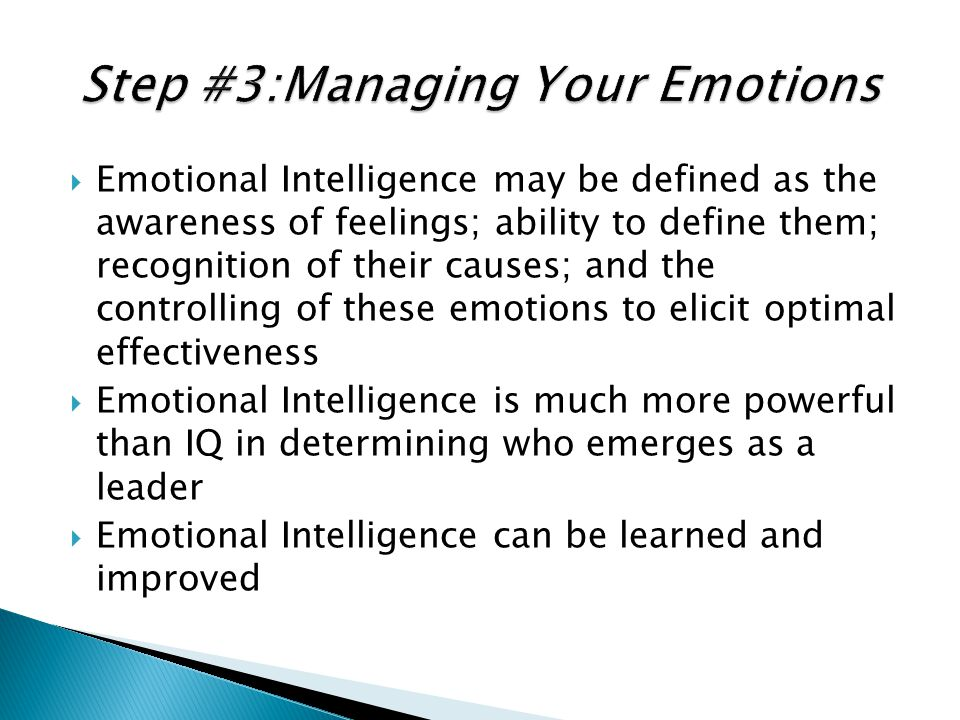 Step #3:Managing Your Emotions