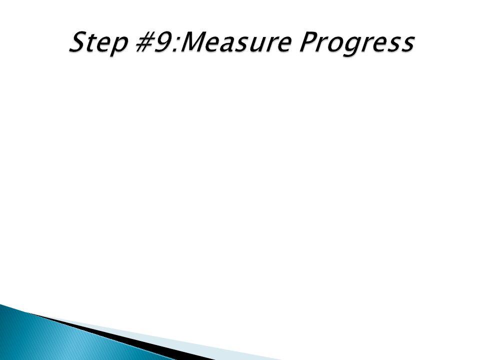 Step #9:Measure Progress