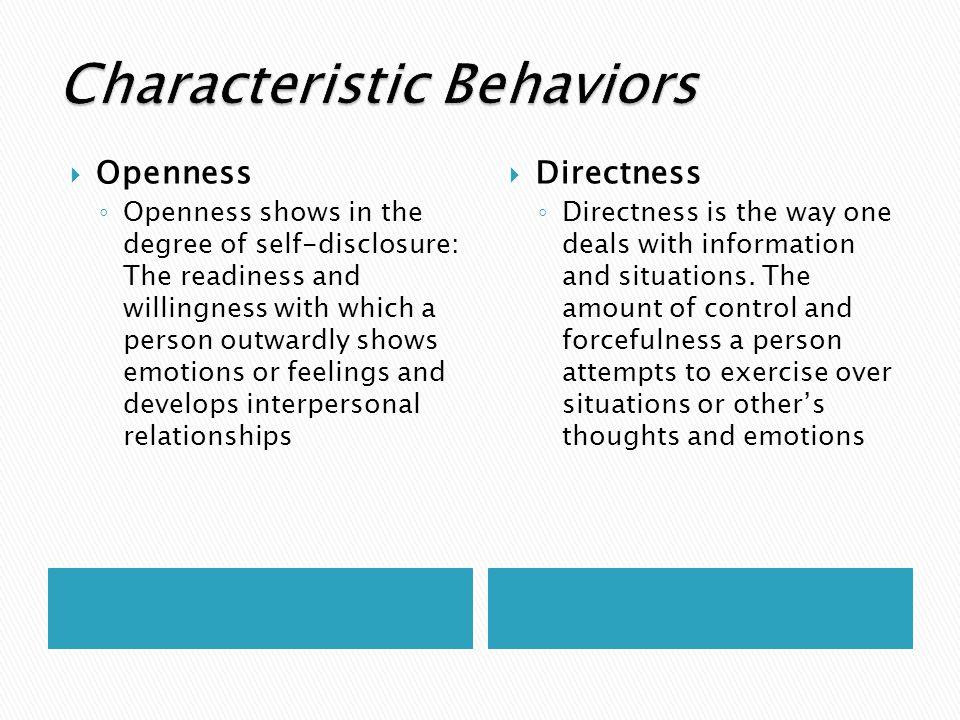 Characteristic Behaviors