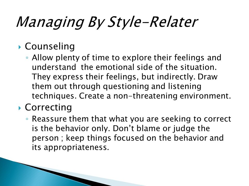 Managing By Style-Relater