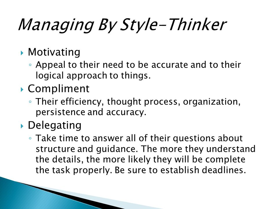 Managing By Style-Thinker