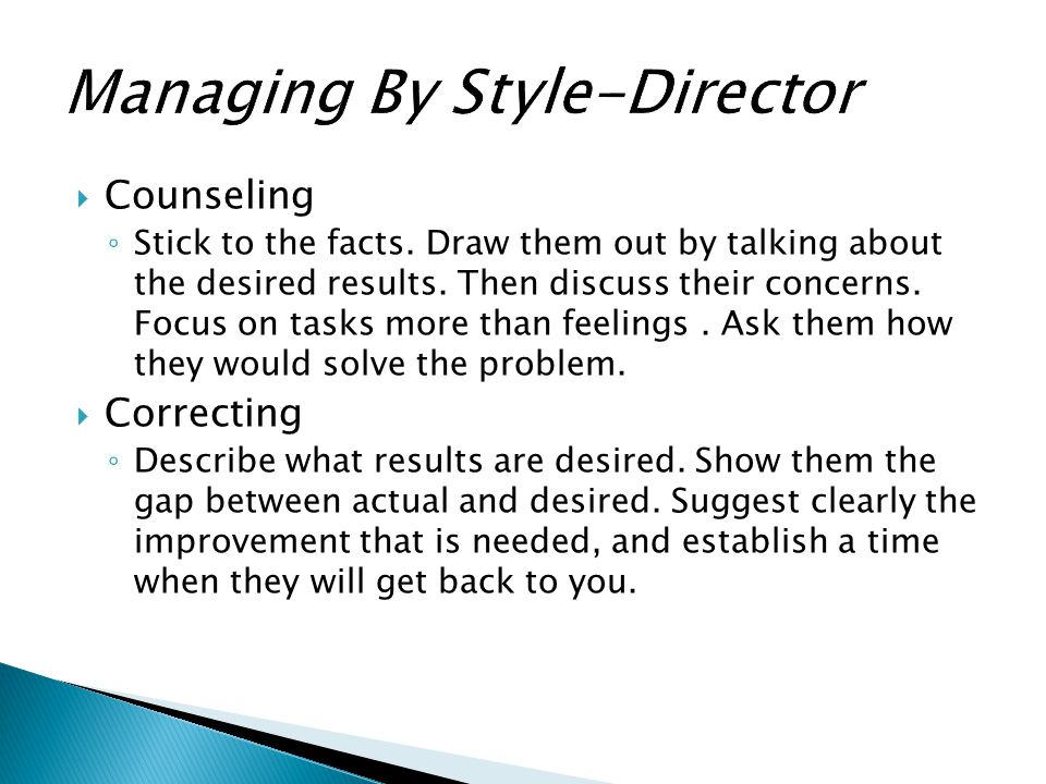 Managing By Style-Director