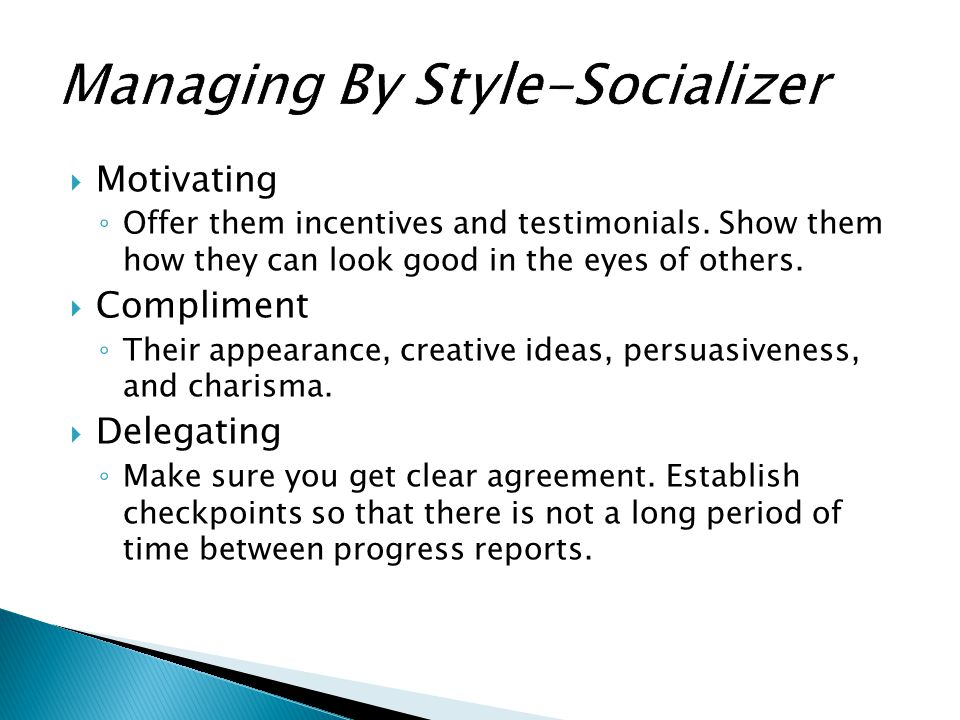 Managing By Style-Socializer