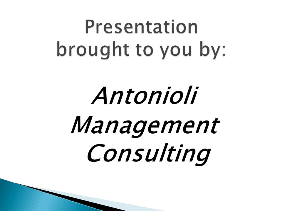 Presentation brought to you by: