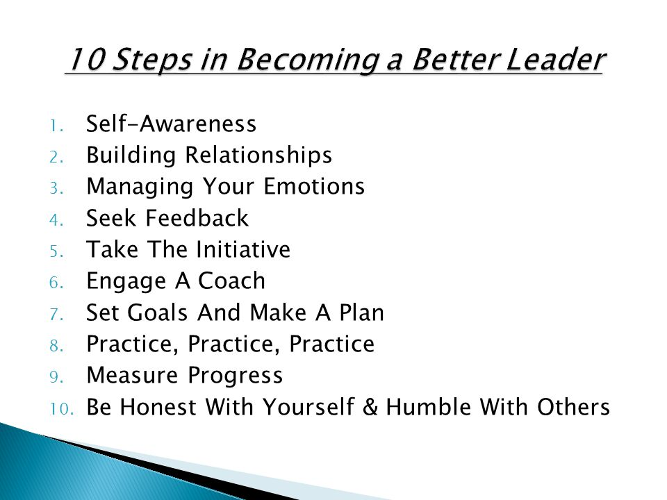 10 Steps in Becoming a Better Leader