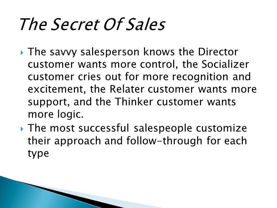 The Secret Of Sales