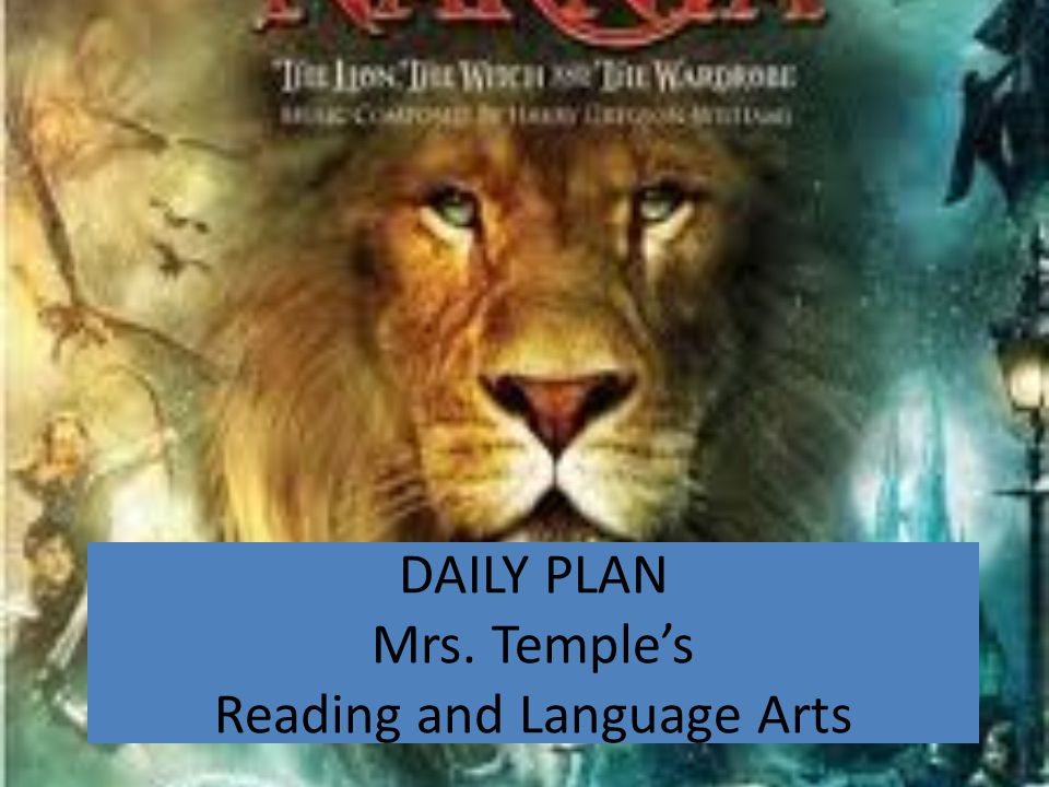 DAILY PLAN Mrs. Temple's Reading and Language Arts