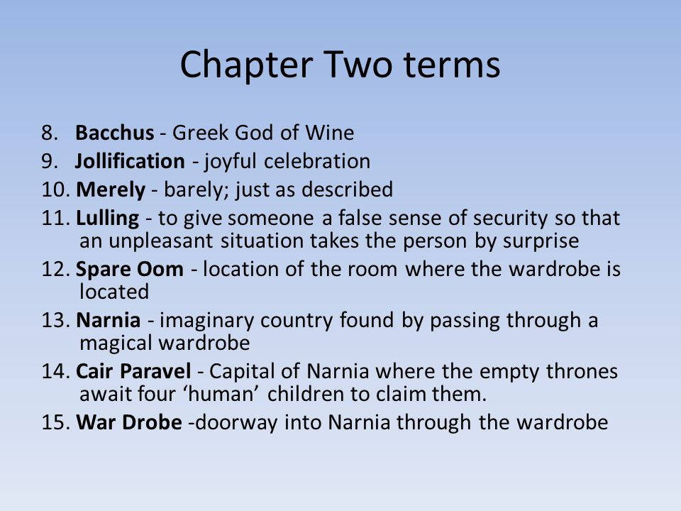 Chapter Two terms