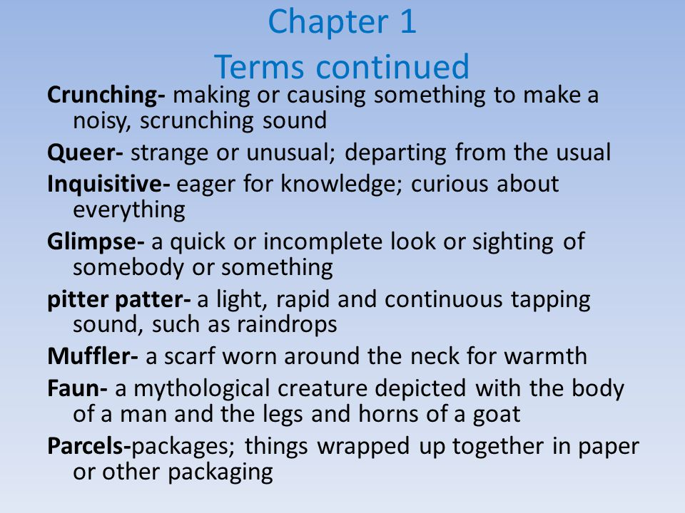 Chapter 1 Terms continued