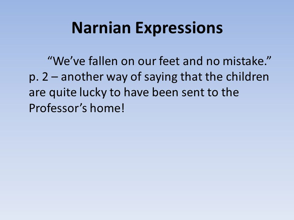 Narnian Expressions
