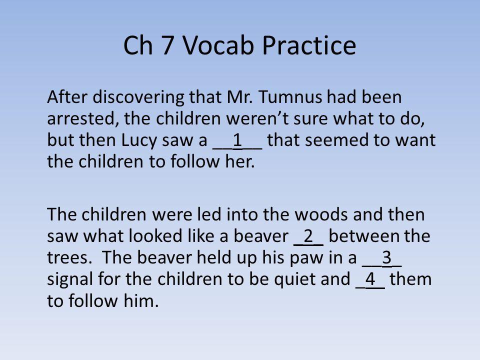 Ch 7 Vocab Practice