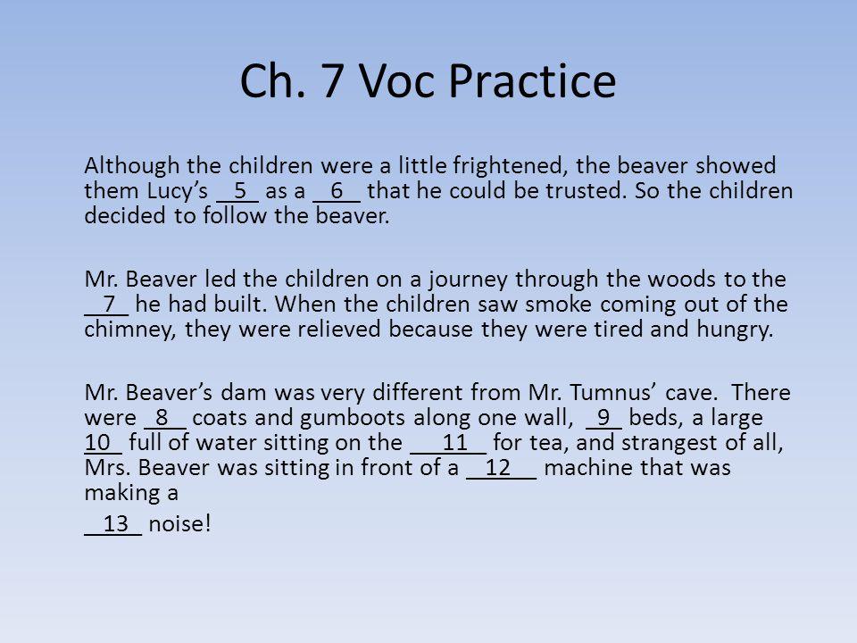 Ch. 7 Voc Practice