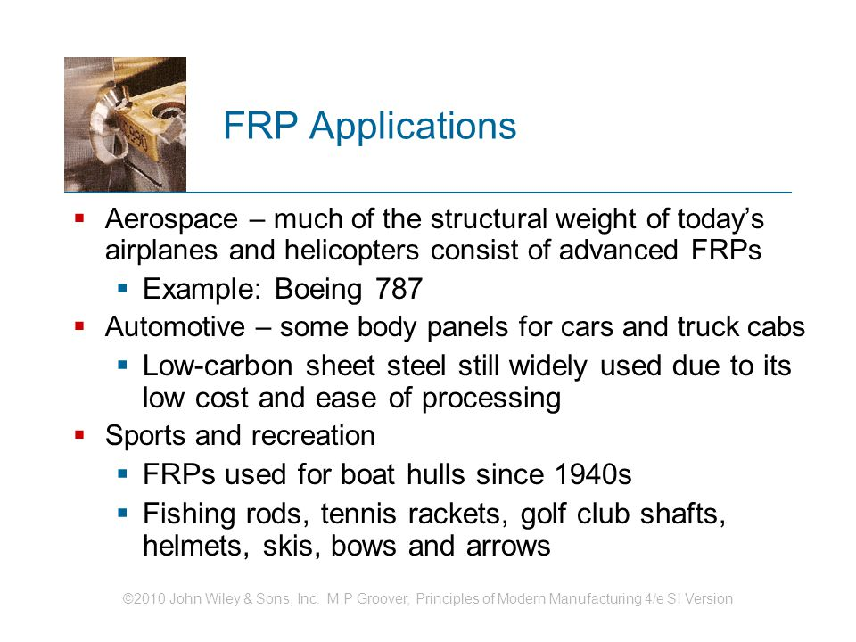 FRP Applications Example: Boeing 787