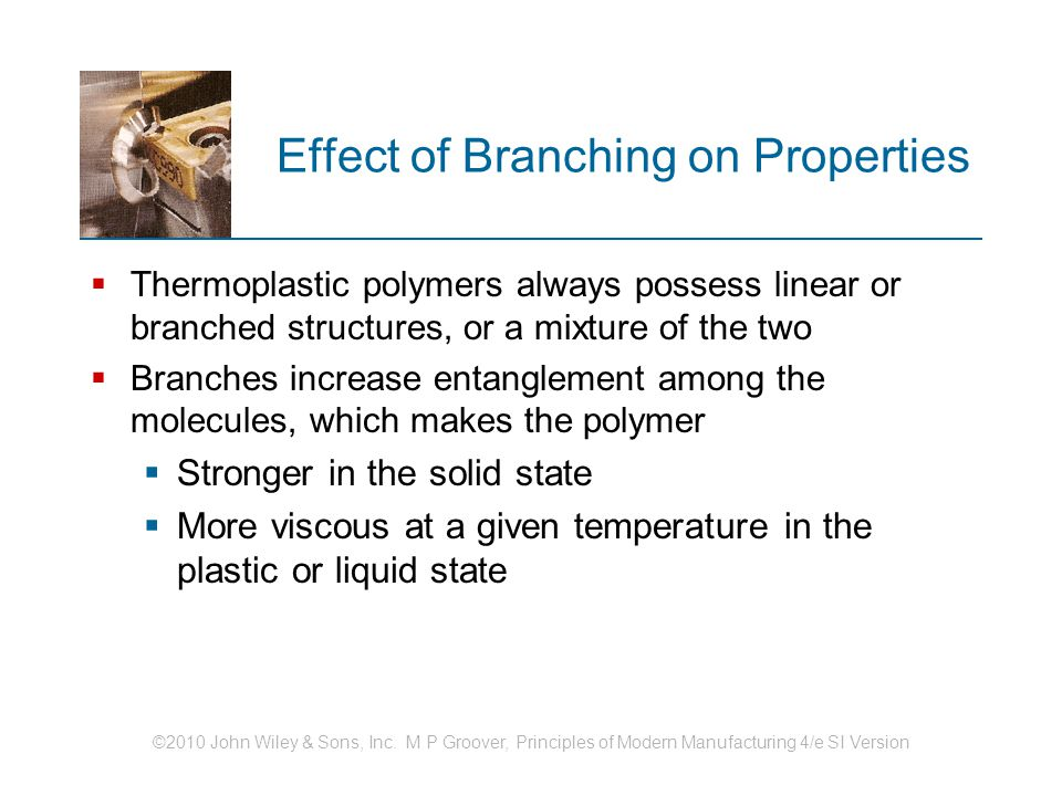 Effect of Branching on Properties