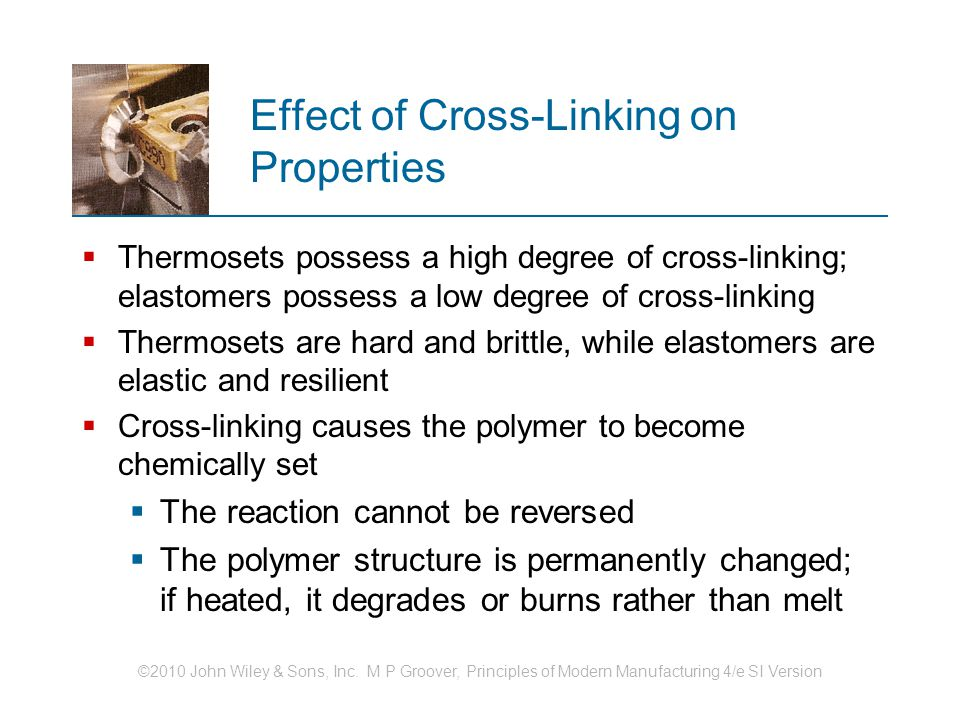 Effect of Cross-Linking on Properties