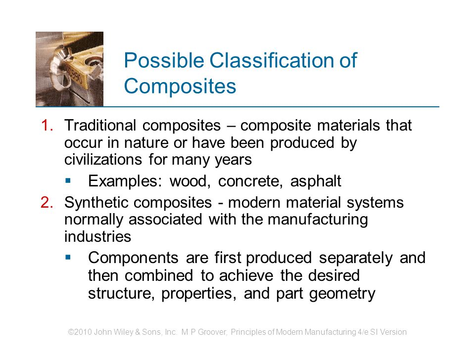 Possible Classification of Composites