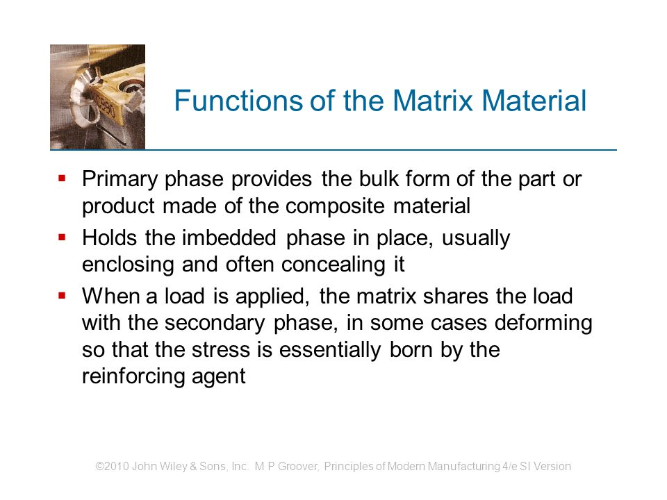 Functions of the Matrix Material
