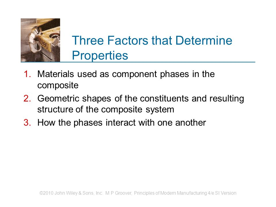Three Factors that Determine Properties