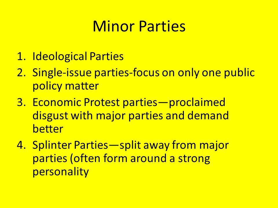 Minor Parties Ideological Parties
