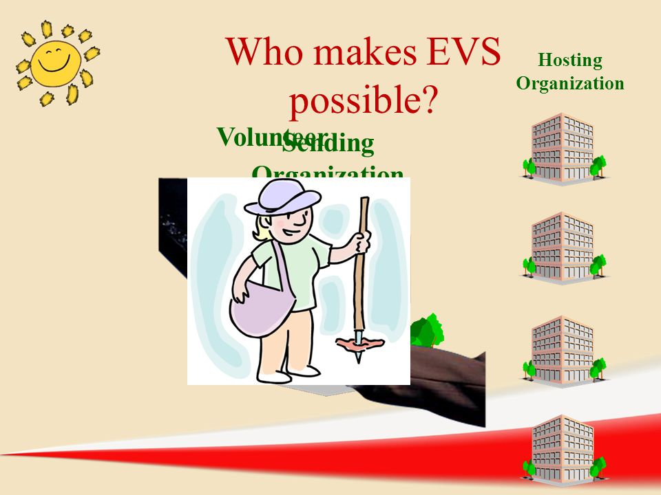 Who makes EVS possible Volunteer Sending Organization