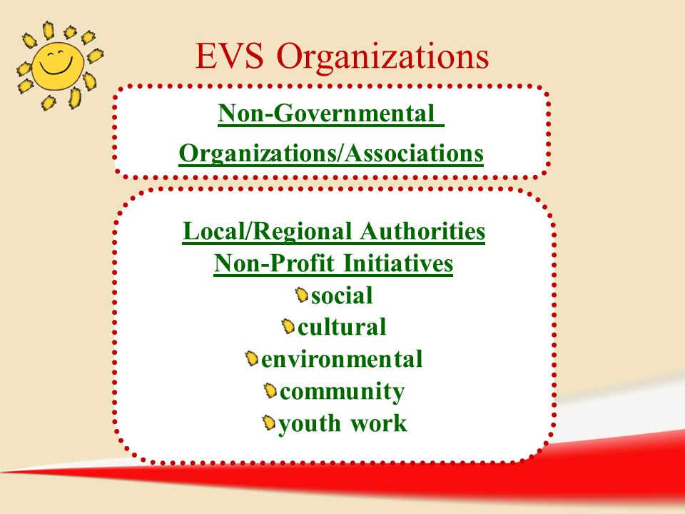 EVS Organizations Non-Governmental Organizations/Associations
