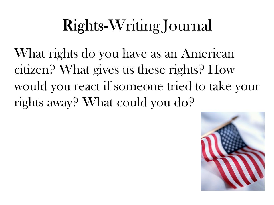 Rights-Writing Journal