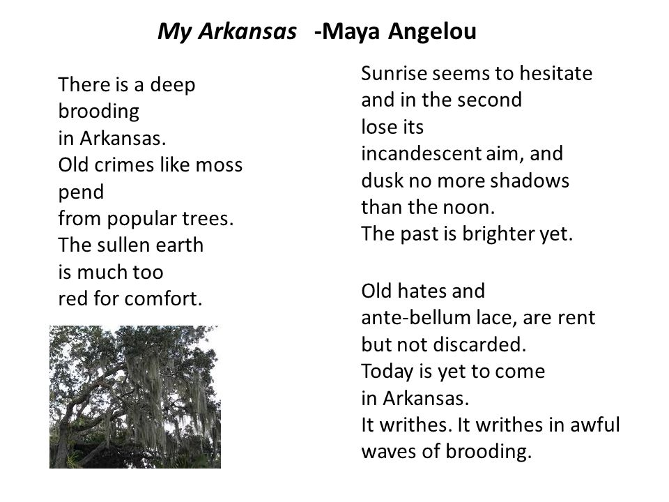 My Arkansas -Maya Angelou