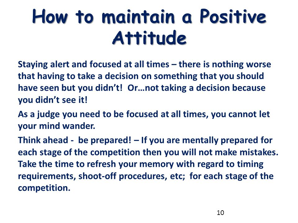 How to maintain a Positive Attitude