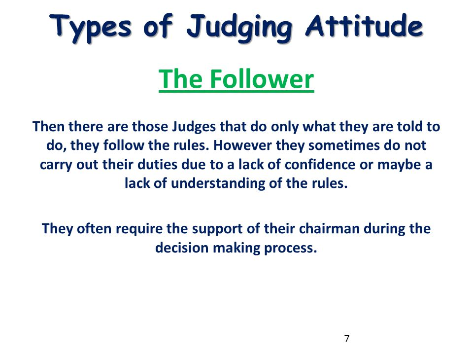 Types of Judging Attitude