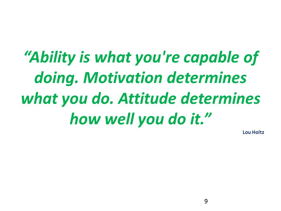 Ability is what you re capable of doing