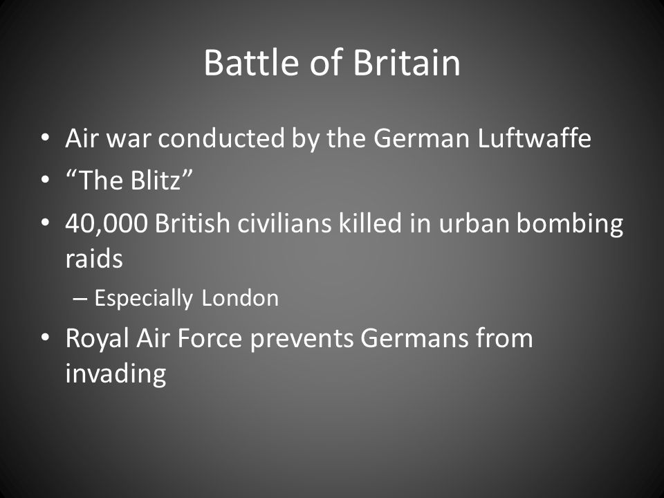 Battle of Britain Air war conducted by the German Luftwaffe