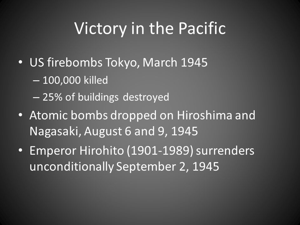 Victory in the Pacific US firebombs Tokyo, March 1945