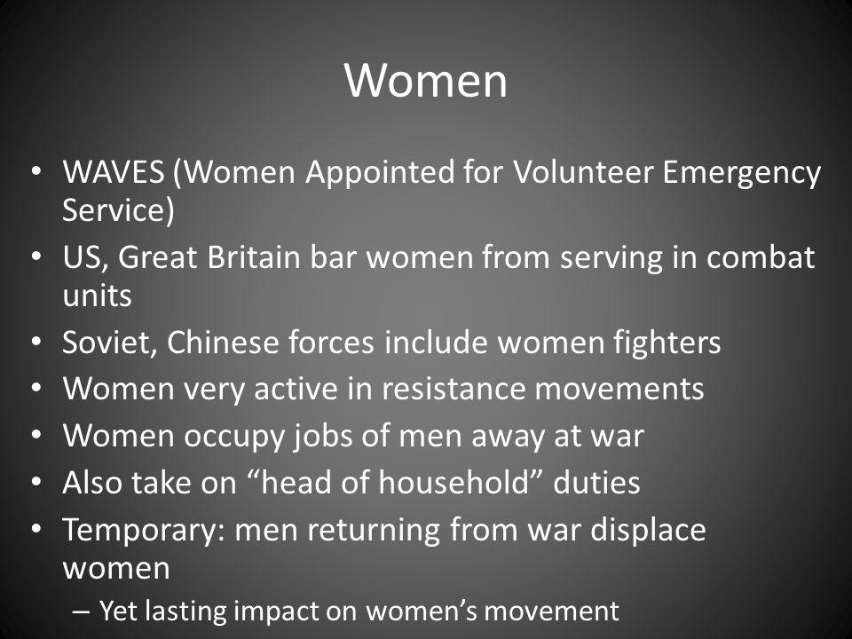Women WAVES (Women Appointed for Volunteer Emergency Service)