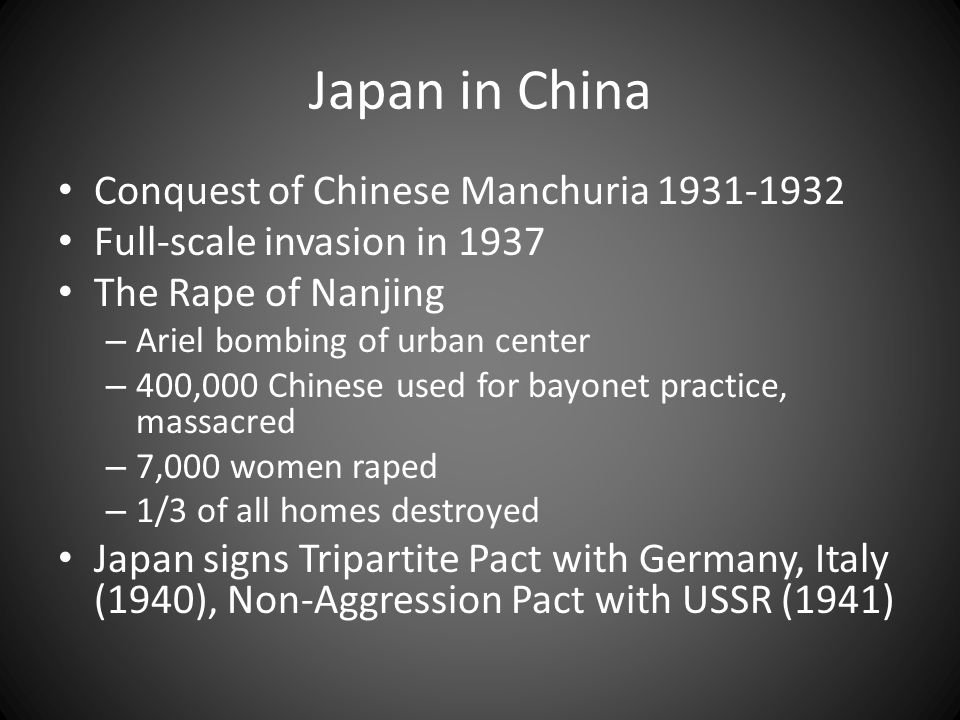 Japan in China Conquest of Chinese Manchuria 1931-1932