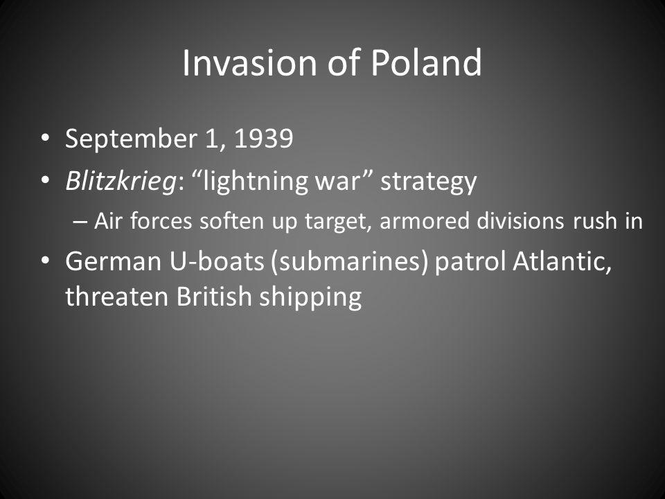 Invasion of Poland September 1, 1939