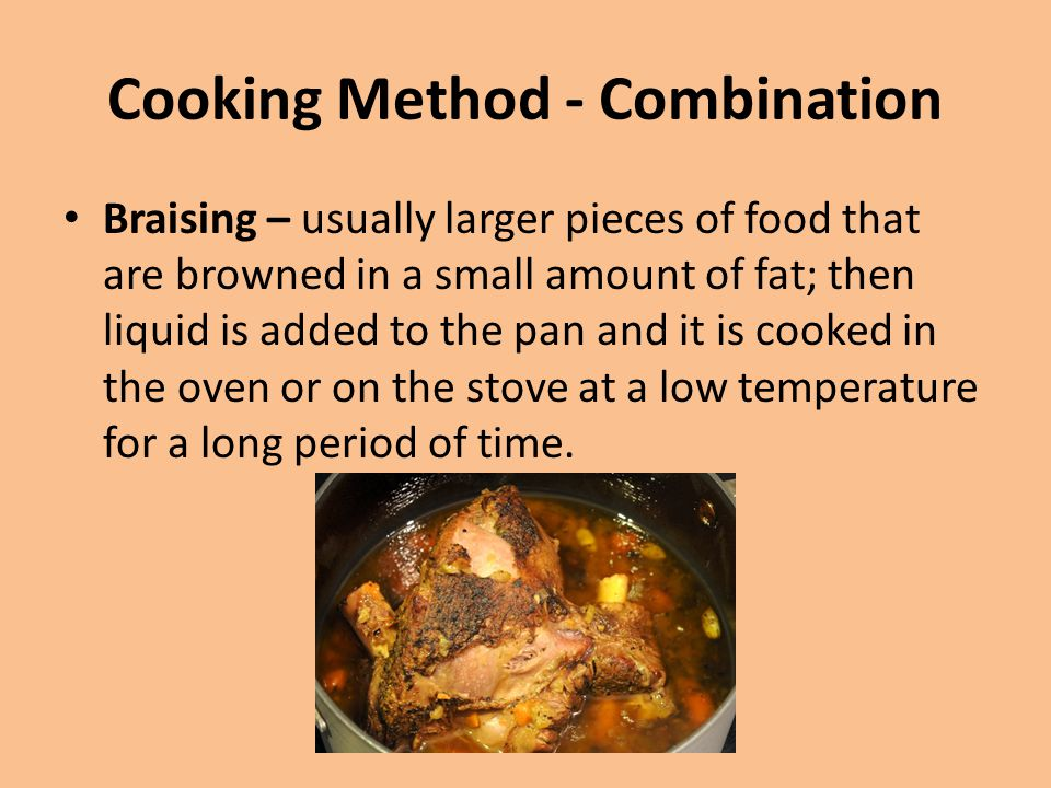 Cooking Method - Combination