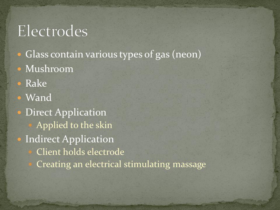 Electrodes Glass contain various types of gas (neon) Mushroom Rake