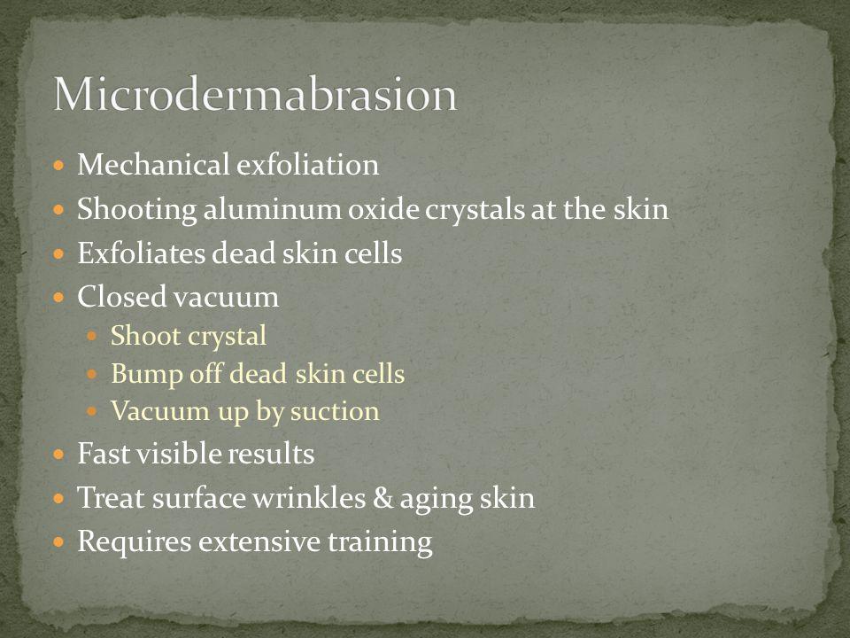 Microdermabrasion Mechanical exfoliation