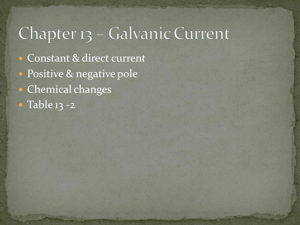 Chapter 13 – Galvanic Current