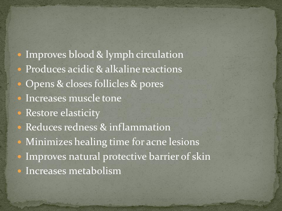 Improves blood & lymph circulation
