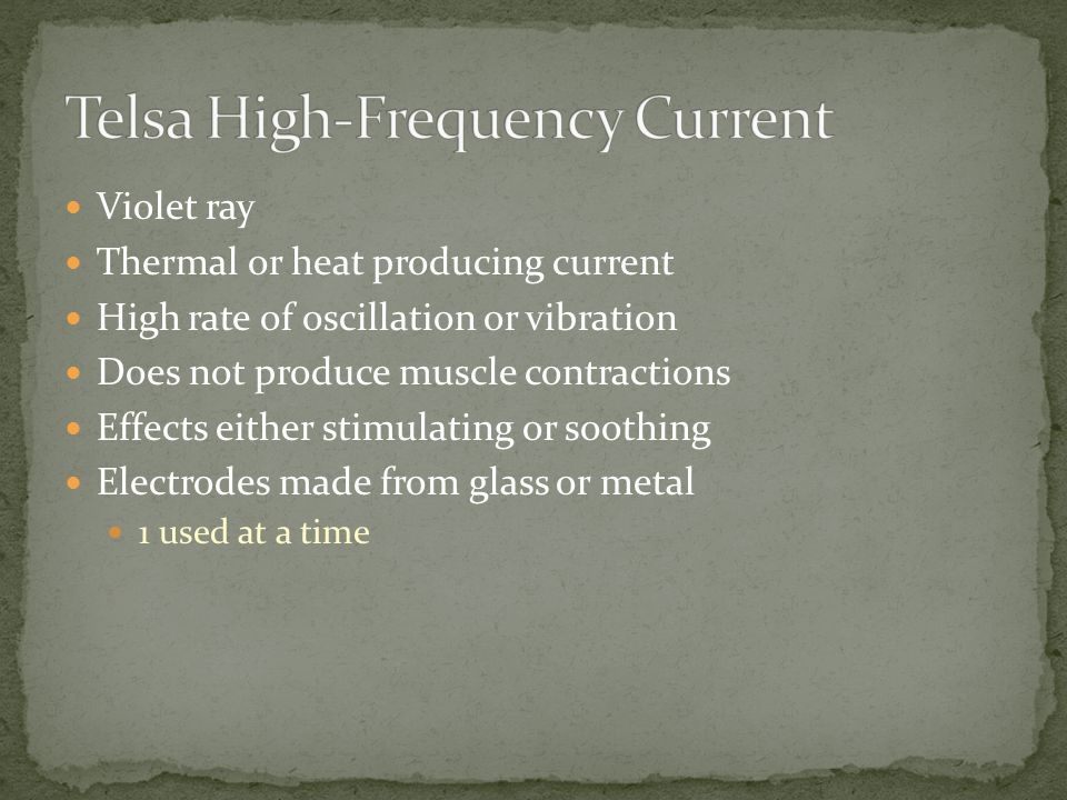 Telsa High-Frequency Current
