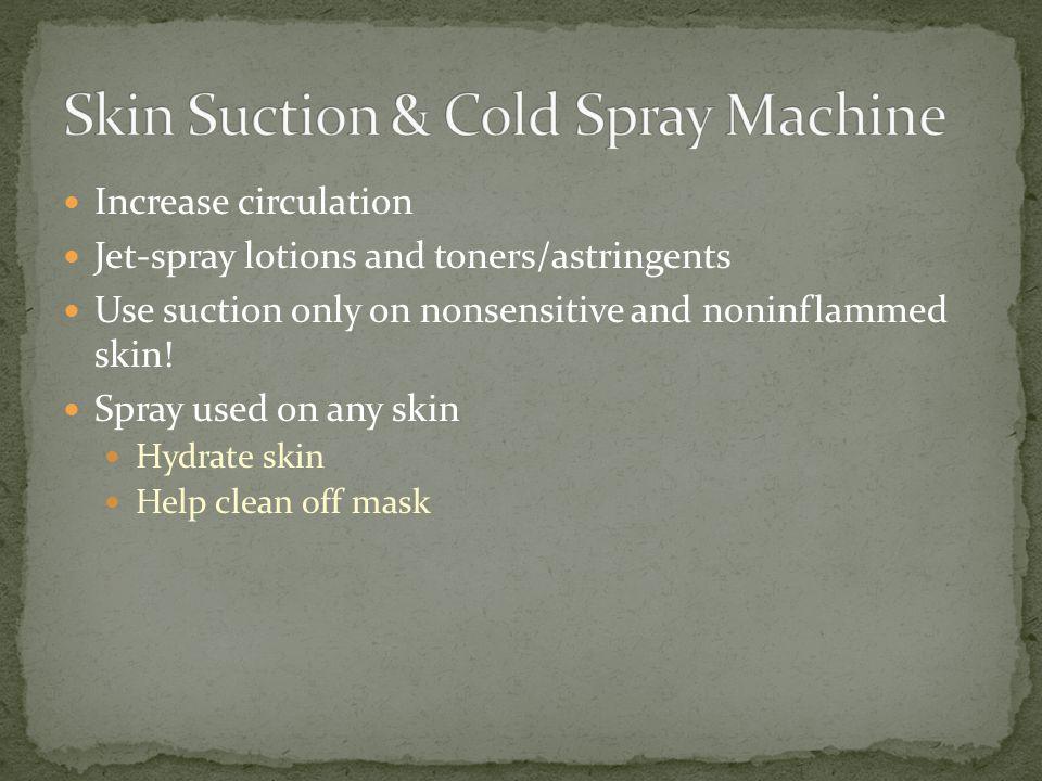 Skin Suction & Cold Spray Machine