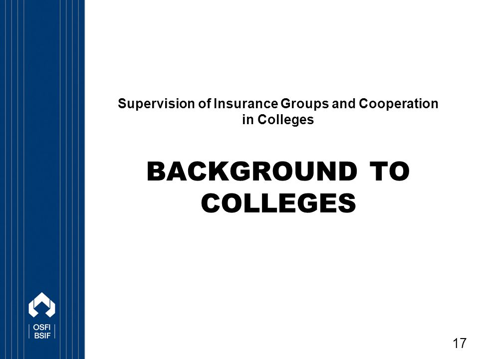 Background to Colleges