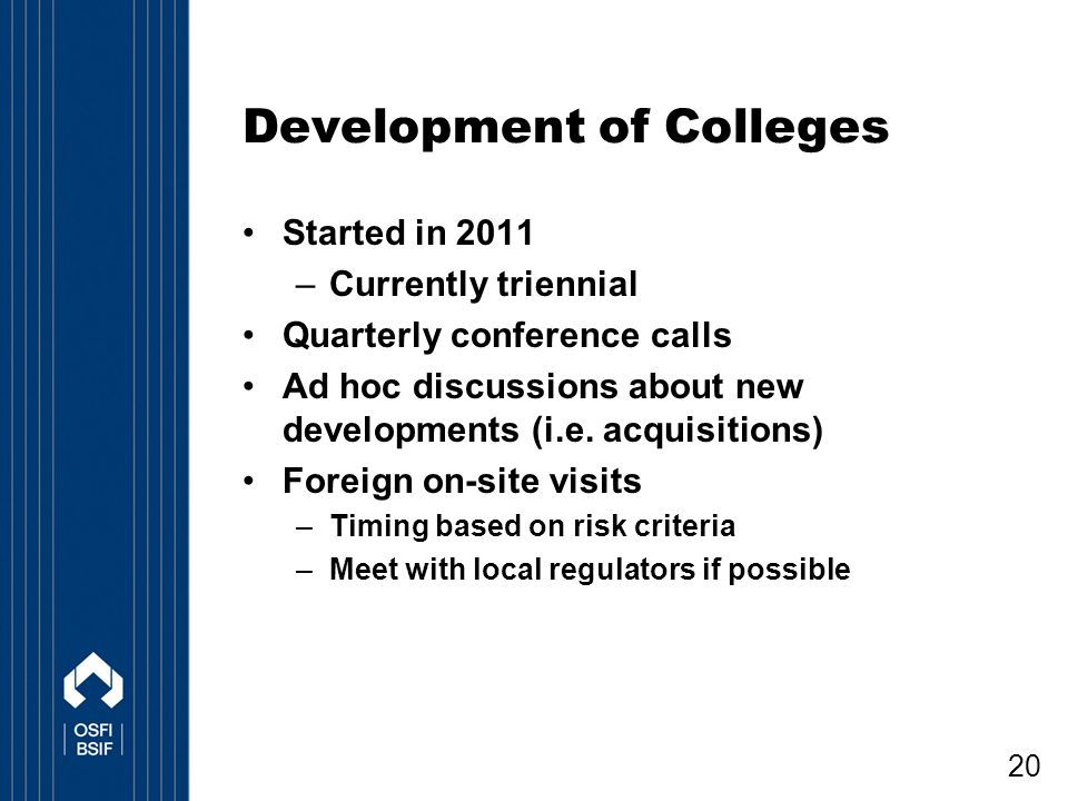 Development of Colleges
