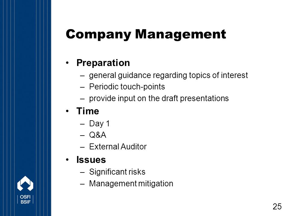 Company Management Preparation Time Issues